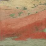 Campi e Campi Ossidi, terre e sabbie su tela 2003, 150x80 cm