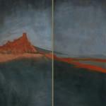 Lassù (Sulla roccia - Come una roccia) 2007 - Dittico 190x180 cm