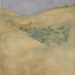 Profondamente giallo Ossidi, terre e sabbie su tela 2003, 120x60 cm