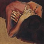 Solitudine 1996, olio e sabbie su tela, 80 X 95 cm