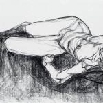 Tormenti nel sonno 1993, sanguigna su carta, 70 X 100 cm
