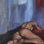 Annalisa 1994, olio su tela, 200 X 100 cm