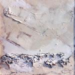 Natura bianca, 1990 Olio su masonite trattata, cm 80 X 80