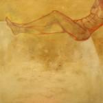 Creatura unica Ossidi, terre e sabbie su tela, 150 x 150 cm