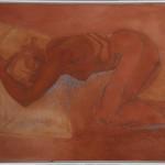 Giovanna Ossidi, terre e sabbie su tela, 100 x 120 cm
